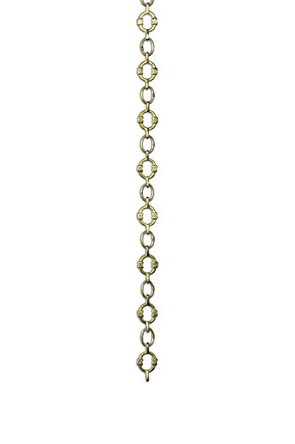 - RCH Hardware CH-17-PB Decorative Polished Solid Brass Chain for Hanging, Lighting - Small Round Unwelded Links with X Design (1 Foot)