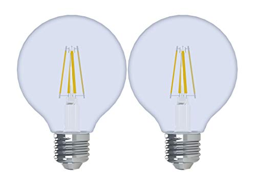 (GE Lighting 92252 Reveal HD LED 3.2 (40-watt Replacement), 240-Lumen G25 Light Bulb with Medium Base, 2-Pack)