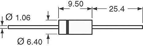 Pack of 100 1.5KE300CA-TP TVS DIODE 256V 414V DO201AE