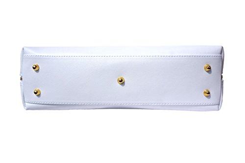 Cuir En Florence Blanc Business Sac 308 Pour Market Femme Leather Saffiano Cartable xx8AZq