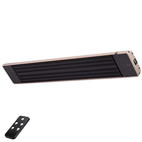 Heater, Indoor/Outdoor Wall-Mounted Patio Heater with Remote Control,Stainless Steel Tube ()
