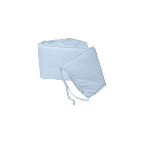 Breathable Crib Bumper Pads for Standard Cribs Machine Washable Padded Crib Liner Set for Baby Boys Girls Safe Bumper Guards Crib Rail Padding, 4 Piece, Light Blue ()