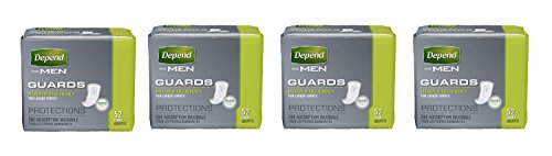 Depend Incontinence Guards for Men, Maximum mmsjf Absorbency, 52 Count (4 Pack) by Depend