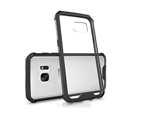 Galaxy S7 Case, Cocomii Modern Armor NEW [Crystal Clarity] Premium HD Clear Anti-Scratch Shockproof Hard Bumper Shell [Slim Fit] Full Body Ultra Thin Lightweight Transparent Cover Samsung (Black)
