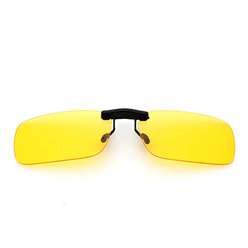 Night Vision Lens Clip On Sunglasses Men's Titanium Flexible Polarized ()