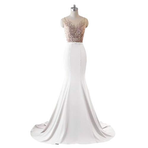 Abendkleid Love King's Lange Pailletten 1 Stickerei Frauen Brautkleid Spitze Formale Meerjungfrau RXqArR