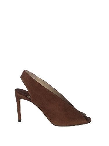 Chaussures À Suède Femme Jimmy Talons Marron Choo SHAR85SUECACAO n4ApqFB