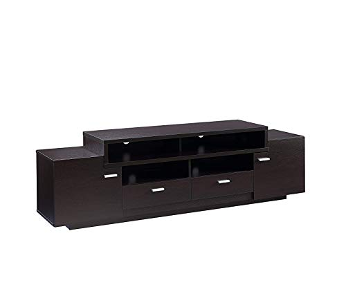 Wood & Style Television-Stands Red Cocoa Decor Comfy Living Furniture Deluxe Premium Collection