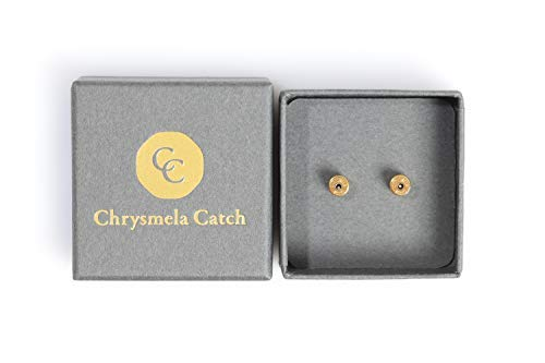 Number Charm 14kt Gold Jewelry - Chrysmela Catch Yellow Gold most secure high tech earring lock earring back replacement for all types of earring posts auto adjustable auto locking hypoallergenic patented in 5 countries