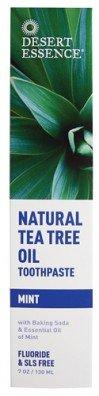 Desert Essence Dentifrice Tea Tree Oil Natural avec bicarbonate de soude Mint - 6,25 Oz, Pack 3