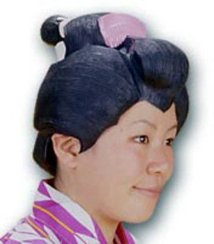 Japanese Geisha Hair Adult Women's Wig -