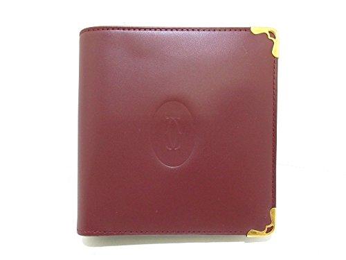(カルティエ) Cartier 2つ折り財布 マストライン ボルドー×ゴールド L3000451 【中古】 B07F12D121  -