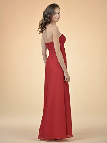 Bridesmaid Line Gown Alicepub Evening Sweetheart Dress Blue A Chiffon Royal Long Bridal Party FwwEXC