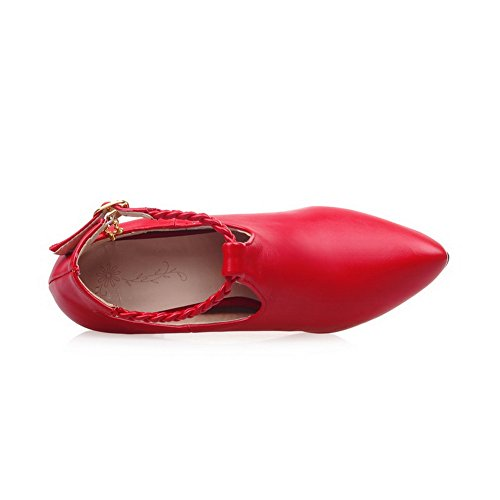 Balamasa Da Donna Cinturino Alla Caviglia Con Borchie In Strass Metallo Fibbie In Metallo Materiali Pompe-scarpe Rosse