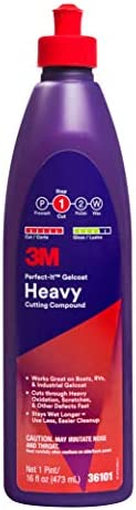 3M Perfect-It Gelcoat Heavy Cutting Compound, 36101, 1 Pint, Fiberglass Oxidation Remover for Boats and RVs