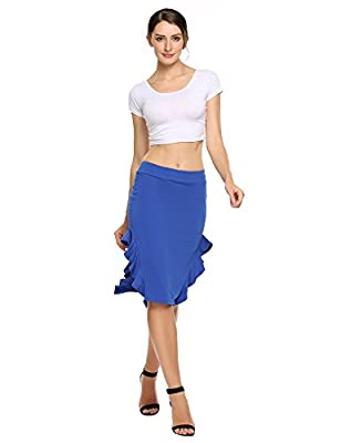 Zeagoo Women's Vintage High Waist Wear to Work Bodycon Mermaid Pencil Skirt