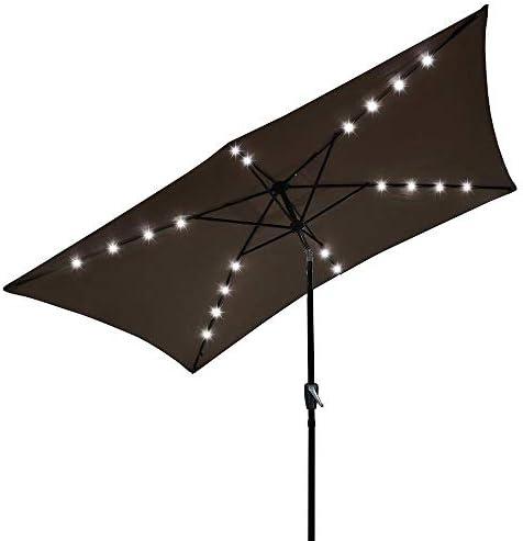 AMPERSAND SHOPS Solar Rectangular Tilt Patio Umbrella