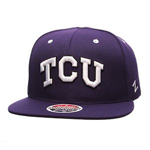 TCU Horned Frogs Zephyr Z11 Snapback Cap Hat - Snapback Horned