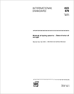 ISO 679:1989, Methods of testing cements -- Determination of strength