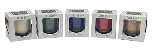 Aloha Bay - 5 Elemental Feng Shui Gift-Box Home Balance Collection   100% Essential Oils   Fair Trade Palm Wax