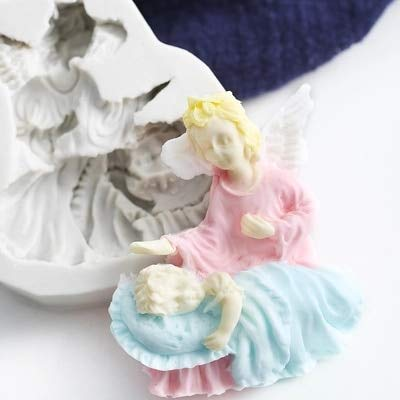 1 piece Praying Angel Silicone Mold Sugarcraft Fondant Mould Silicone Mold Chocolate resin clay Fondant Mould Cake Decorating Tools