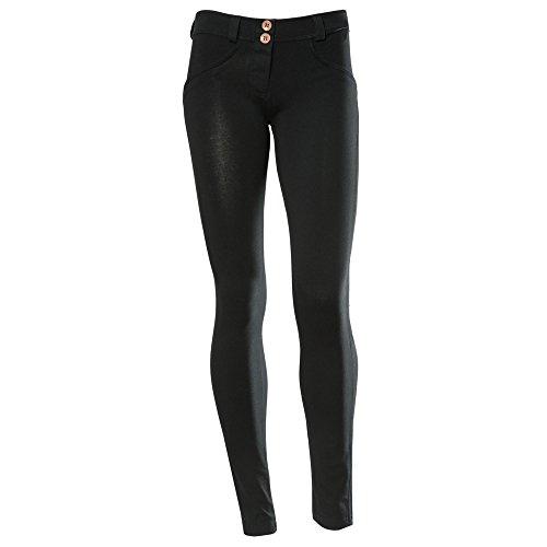 dritti Pantaloni da effetto modellante nero a bassa UP nero FREDDY donna WR vita HTWntHap