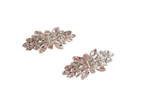 - Wedding Bridal Clear Crystal Rhinestone Shoe High Heel Pumps Stiletto Clips Decoration Charms
