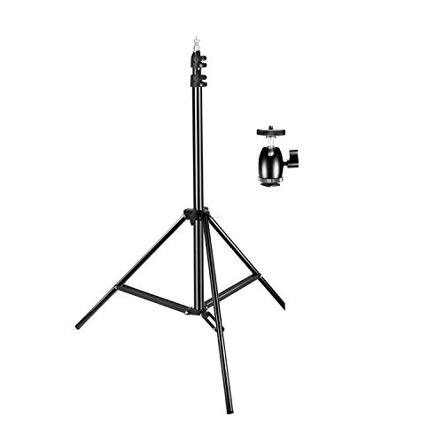 Neewer 75 inches/190 centimeters Adjustable Light Stand with 1/4-inch Screw Tripod Mini Ball Head Hot Shoe Adapter for HTC Vive VR, Video, Portrait and Product Photography by Neewer