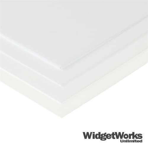 White Styrene Thermoform Plastic Sheets 1 16 X 12 X 12 Sheets 12 Piece Bundle Construction Boards Amazon Com