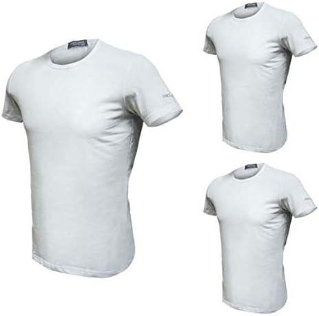 6, Bianco Enrico Coveri T-Shirt Uomo Girocollo 3 pz.