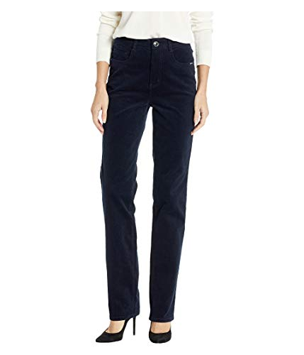 FDJ French Dressing Jeans Women's Plush Cord Suzanne Straight Leg Navy 12 33
