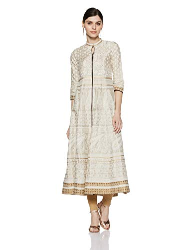 W for Woman Straight Mandarin Neck Printed Kurta for for sale  Delivered anywhere in Canada