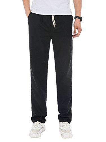 Elastic Waist Casual Pants - 7