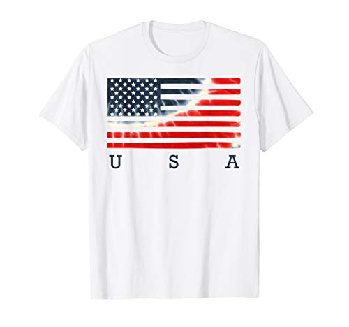 Tie Dye American Flag Shirt 4th of July USA Patriotic 2 T-Shirt