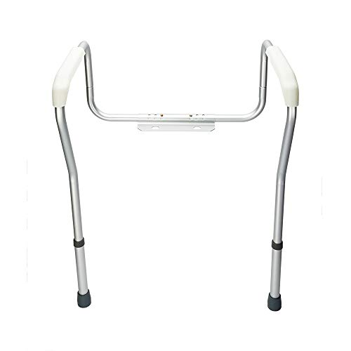OvMax Toilet Safety Frame, Bathroom Safety Rail with Toilet Seat Assist Handrail Grab Bar, Medical Supply for Elderly, Adjustable Legs and Arm by OvMax (Image #1)