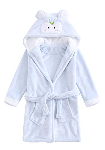 Childrens Boys Kids Robe Dressing Gown Plush Contrast