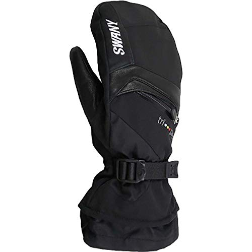 Swany Mens X-Change Ski and Boarding Insulated Mitt, Black, M