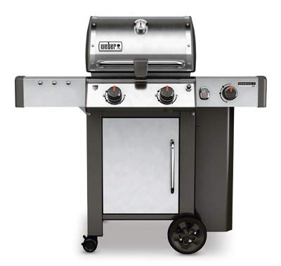 Weber-Stephen Products 60004001 Genesis II LX S-240 Liquid Propane Grill, Stainless Ste, Two-Burner, - System Grease Management