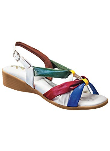 AmeriMark Women's Adult Sofwear by Beacon Toby Synthetic 8.5 Narrow US Women/Brite Multi