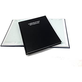 Scientific Notebook - Laboratory Notebook, 192 numbered pages, black hardcover 2001HC