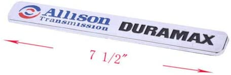 2pcs Autotuning Allison Transmission Duramax Emblem 2500hd Compatible for Gm Chevrolet Silverado Gmc Chrome