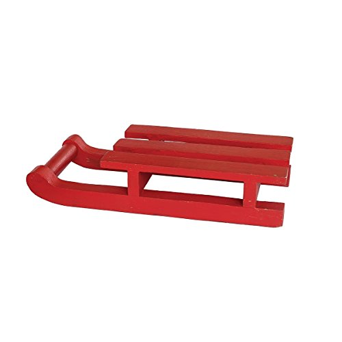 C&F Home Red Wooden Doll's Sled, 9.75-in.