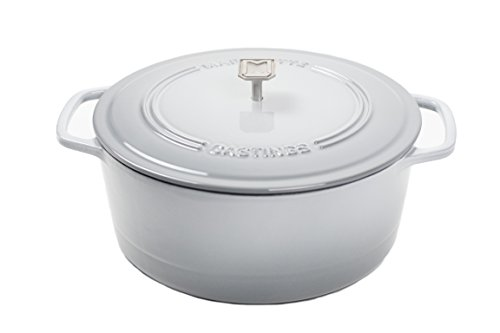 Marquette Castings 6 qt. Cast Iron Dutch Oven (Gray)