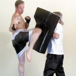 Hockerbreite 31 cm Schlagpolster mit Wulst H/öcker BAY/® UPPERCUT Ma/ße: 80 x 40 x 16 cm Pratze Pratzen Bodyshield Kickboxen Thaiboxen Muay Thai Kampfsport K1 K-1 MMA Freefight schwarz Schlagkissen