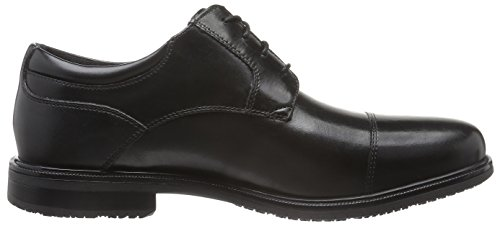 Uomo Essential Black Captoe Leather Rockport Black Stringate Detail Scarpe II qdT8Y