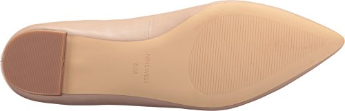 Nine West Women's Abay Leather Pointed Toe Flat Medium Natural/Medium Natural Leather 3QttA