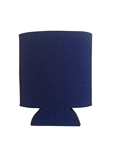 C&R Online Deals Blank Navy Blue Beer Can Coolers Insulators for Beer or Soda - 4 Pack of Navy Blue