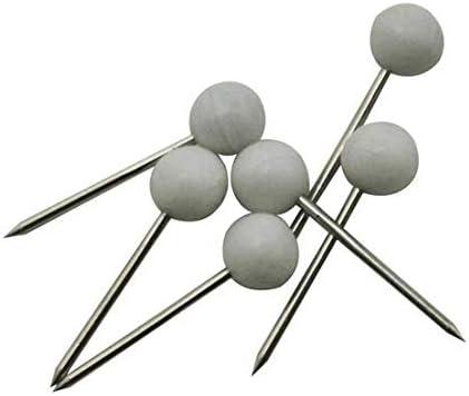 Wuuycoky Épingle à tête ronde de 4 mm de diamètre White,300 Pcs