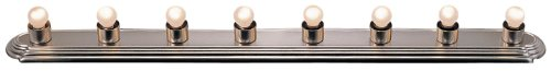 Livex Lighting 1148-91 Basics 8-Light Bath Light, Brushed Nickel