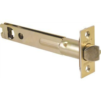 Kwikset 3014-01 3 Security 5-Inch Entry Door Latch, Polished Brass Pack Of 2